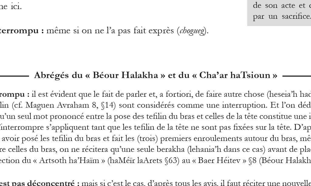 Abrégés du Béour Halak'ha en Français