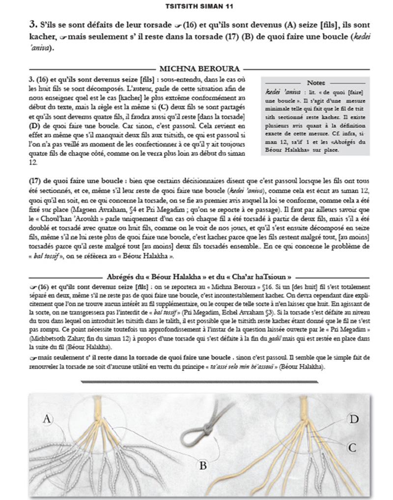 Page d'illustration en Français du contenu du Michna Beroura traduit en Français